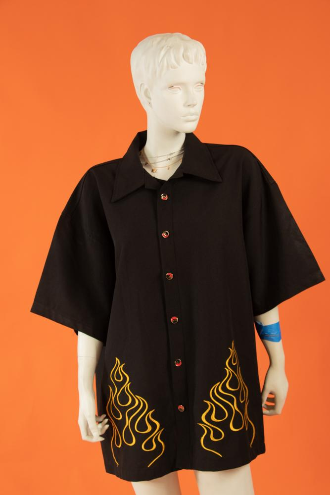 Vintage - Flame Thriller Button Up