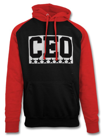 CEO Black & Red Baseball Hoodie