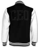 CEO Black and White Varsity Jacket