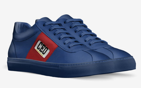 CEO BLUE SNEAKERS with RED SIDE TAPE