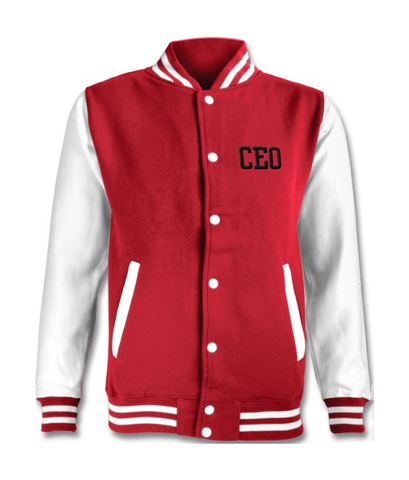 CEO Red & White Varsity Jacket