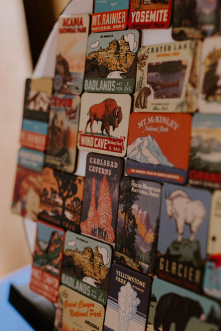 National Park Magnets at Quinn's Mercantile