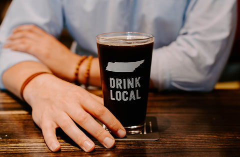 Drink Local Beer Glass at Quinn's Mercantile