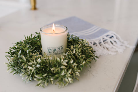 Quinn's Signature Candle with Turkish Towel