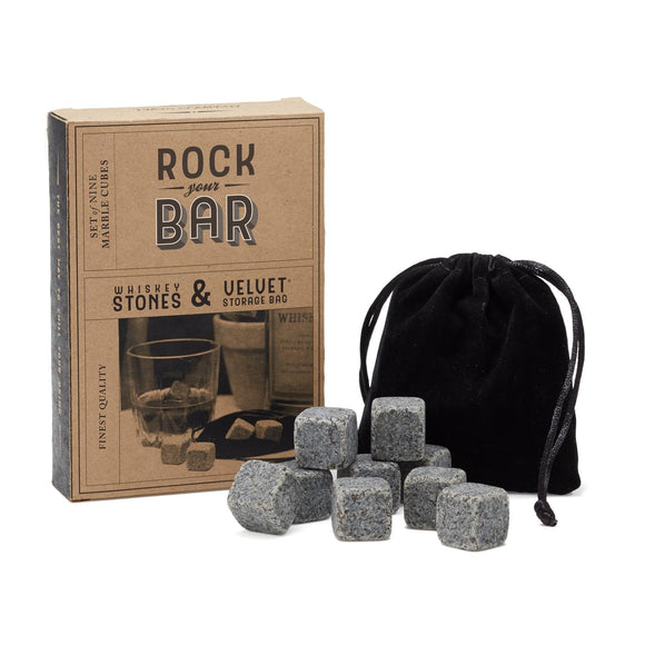 Whiskey Stones in Pouch-barware-Quinn's Mercantile