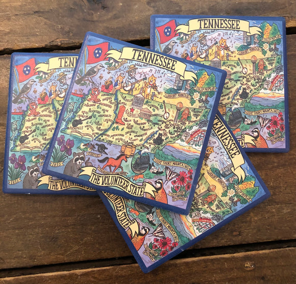 Tennessee Coaster Set-Gift-Quinn's Mercantile
