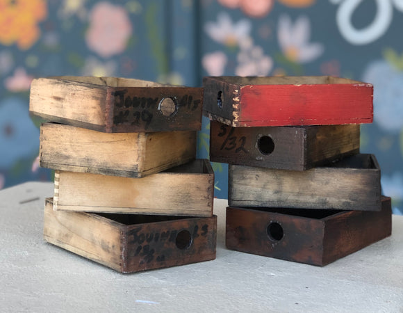 Vintage Wooden Mini Trays-Vintage Finds-Quinn's Mercantile
