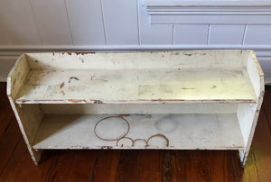 Vintage Wooden Painted Shelf-Vintage Finds-Quinn's Mercantile