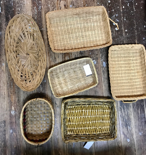 Vintage Baskets-For the Home-Oval-Quinn's Mercantile