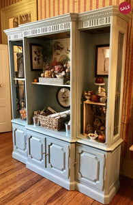 Vintage Painted Open Cabinet-furniture-Quinn's Mercantile