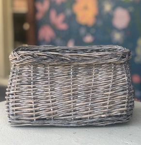 Distressed Woven Basket-For the home-Quinn's Mercantile