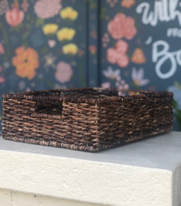 Flat Woven Basket-For the home-Quinn's Mercantile