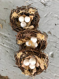 Mini Nest with Eggs-Floral Spring-Quinn's Mercantile
