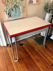 Enamel Top Table-furniture-Quinn's Mercantile