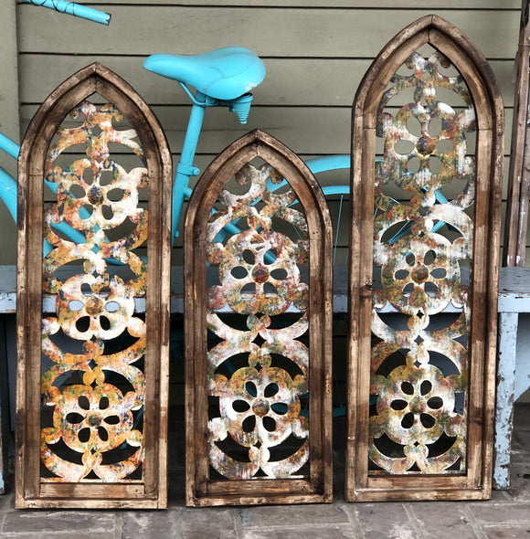 Floral Cut Out Windows-Wall Decor-30