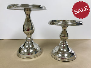 Silver Metal Pedestals-For the Home-Large-Quinn's Mercantile