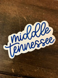 Watercolor Calligraphy Stickers-Gift-Middle Tennessee-Quinn's Mercantile