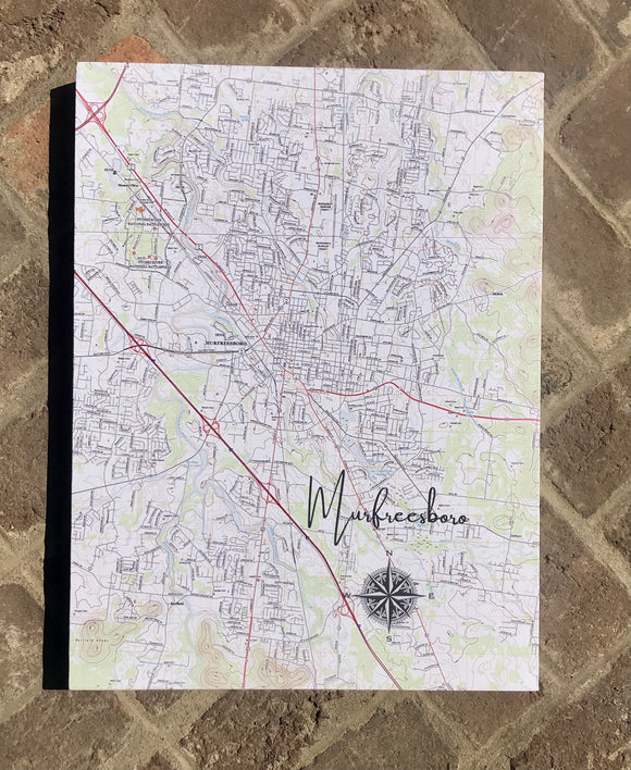 Hometown Map Wrapped Canvas-Wall Decor-Quinn's Mercantile