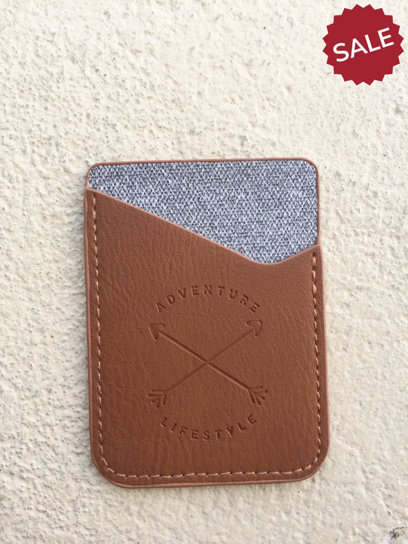 Phone Card Pocket-Gifts-Light Brown-Quinn's Mercantile