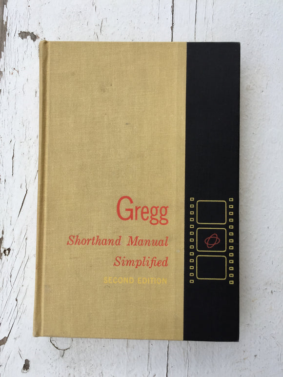 Vintage Gregg Shorthand Manuals-Vintage Finds-Simplified 1955-Quinn's Mercantile
