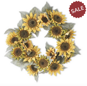 Sunflower Wreath-Floral Fall-Quinn's Mercantile