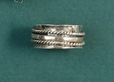 Rotating Rings-Jewelry-Silver Rope 7-Quinn's Mercantile