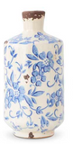 "Blue and White Vases-For the Home-7.75"" Medium Blue-Quinn's Mercantile"