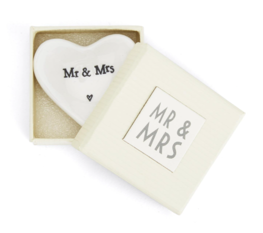 Mr and Mrs Heart Dish-Bridal Gifts-Quinn's Mercantile