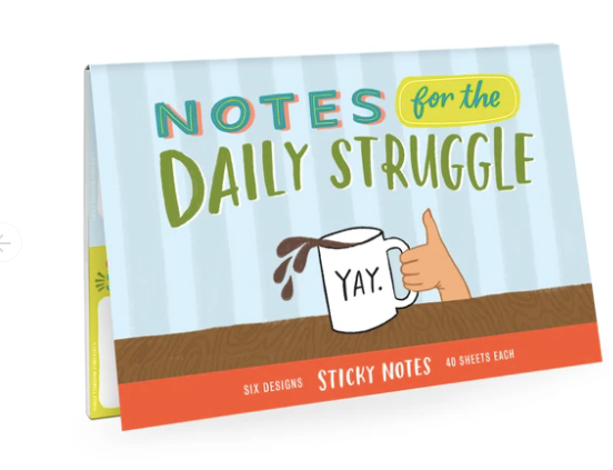 Daily Struggle Sticky Notes-stationery-Quinn's Mercantile