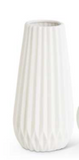 White Accordion Vases-For the Home-Quinn's Mercantile