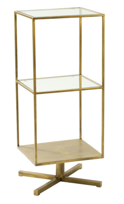 Brass Display Table-furniture-Quinn's Mercantile