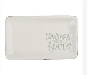 Courage Over Fear Trinket Tray-Gift-Quinn's Mercantile