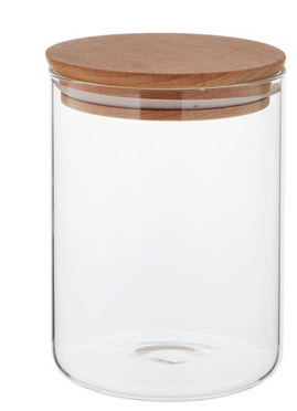 Glass Jar with Wooden Lid-kitchen-23 oz-Quinn's Mercantile