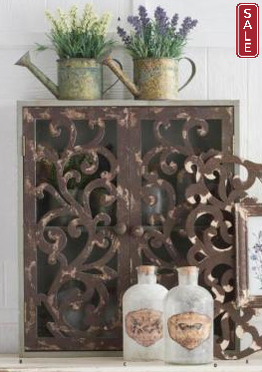 Wall Cabinet with Scrolled Doors-furniture-Quinn's Mercantile