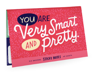 You are Very Smart and Pretty Sticky Note Packet-stationery-Quinn's Mercantile