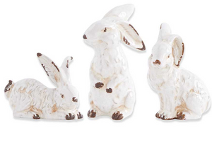 Vintage White Bunnies-For the Home-Quinn's Mercantile