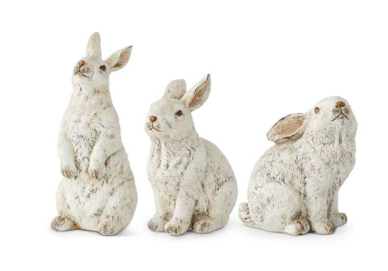 Gray Resin Bunnies-For the Home-Quinn's Mercantile
