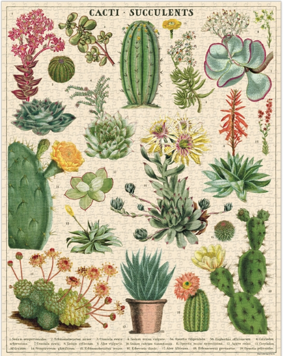 Vintage Puzzles-Gift-Cacti and Succulents-Quinn's Mercantile