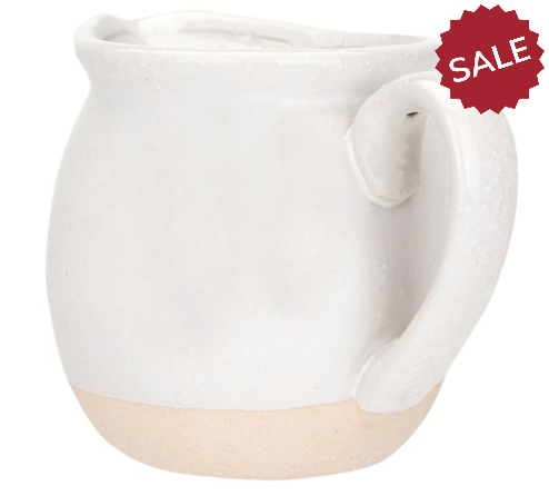 White and Natural Stoneware Pitcher-kitchen-Quinn's Mercantile