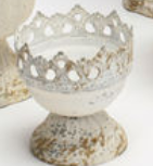 "White Mini Urns-For the Home-3.5"" Crown-Quinn's Mercantile"
