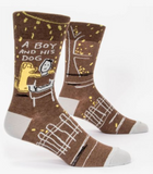 Blue Q Men's Sassy and Smart-Assy Socks-Men's Gifts-A Boy and his Dog-Quinn's Mercantile
