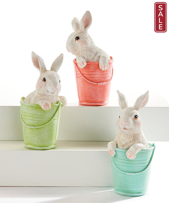 Bunny in a Bucket-For the Home-Quinn's Mercantile