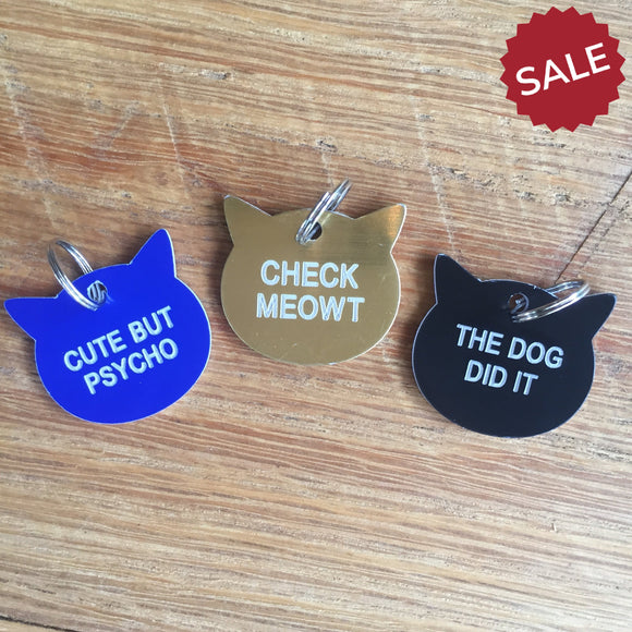 Cat Tags-Pet Products-Check Meowt-Quinn's Mercantile
