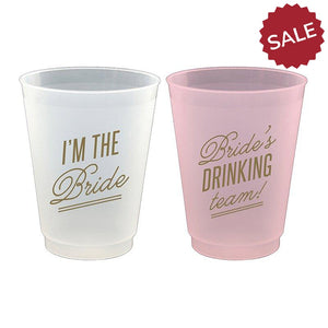 Bride Cocktail Party Cups-Bridal Gifts-Quinn's Mercantile