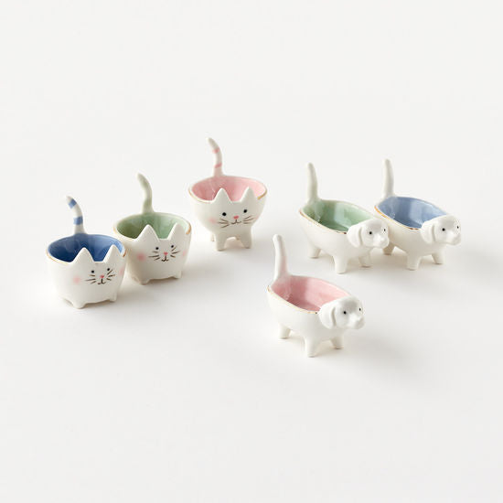 Cat and Dog Trinket Dishes-Jewelry-Quinn's Mercantile