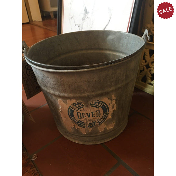 Dover Metal Bucket | Quinn's Mercantile-Vintage Finds-[Murfreesboro square shops]-Quinn's Mercantile