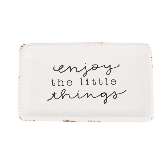 Enjoy the Little Things Trinket Tray-Gift-Quinn's Mercantile