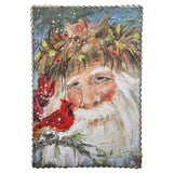 "Tin Framed Winter Prints-christmas-Father Christmas 10x14""-Quinn's Mercantile"