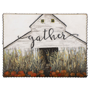 Gather Fall Pillow-Fall Decor-Quinn's Mercantile