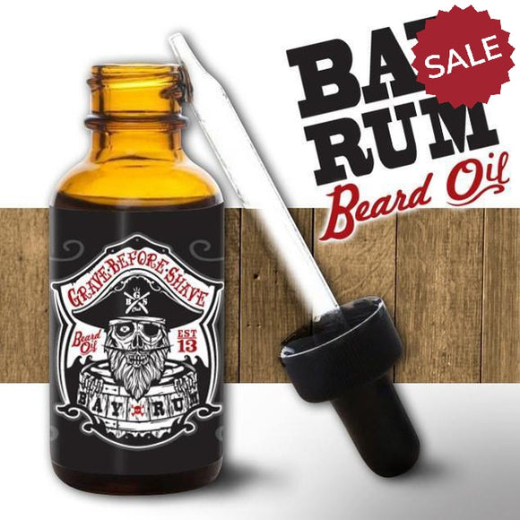 Grave Before Shave Beard Oil-Men's Gifts-Bay Rum-Quinn's Mercantile